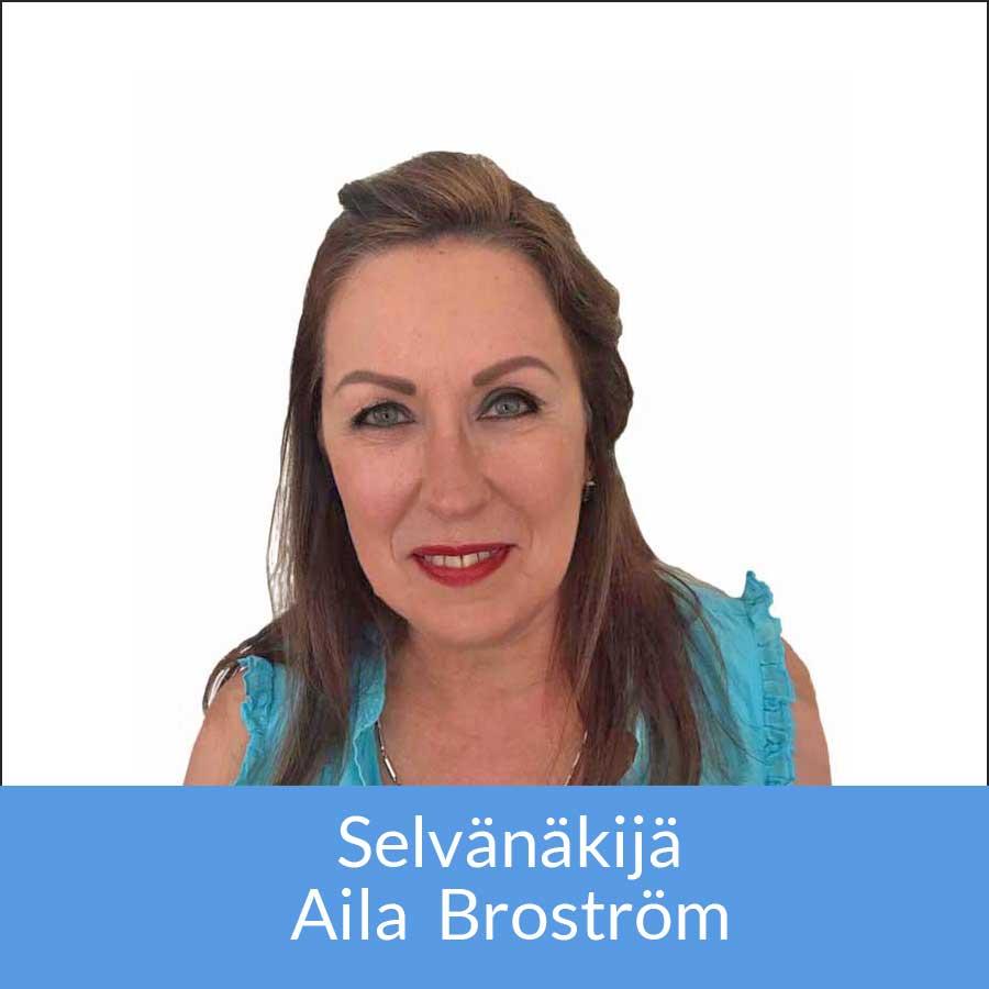Selvänäkijä Aila Broström